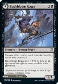 Blackbloom Rogue // Blackbloom Bog, Magic: The Gathering, Zendikar Rising