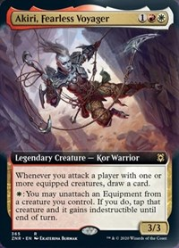 Akiri, Fearless Voyager (Extended Art), Magic, Zendikar Rising