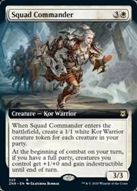 Squad Commander (Extended Art), Magic, Zendikar Rising
