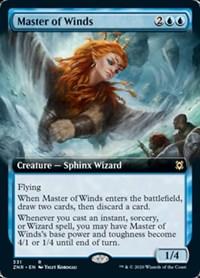 Master of Winds (Extended Art), Magic, Zendikar Rising