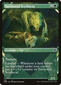 Territorial Scythecat (Showcase), Magic: The Gathering, Zendikar Rising