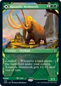 Kazandu Mammoth // Kazandu Valley (Showcase), Magic, Zendikar Rising