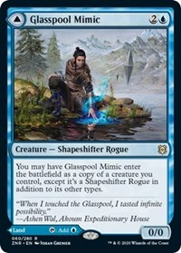 Glasspool Mimic // Glasspool Shore, Magic, Zendikar Rising