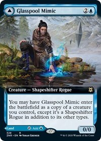 Glasspool Mimic // Glasspool Shore (Extended Art), Magic, Zendikar Rising