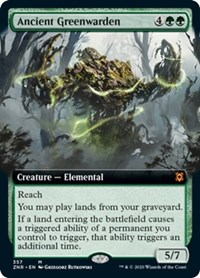 Ancient Greenwarden (Extended Art) (Foil)