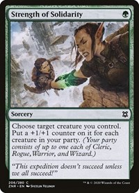 Strength of Solidarity, Magic: The Gathering, Zendikar Rising
