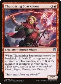 Thundering Sparkmage (Foil)