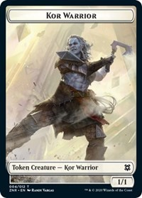 Kor Warrior Token, Magic: The Gathering, Zendikar Rising