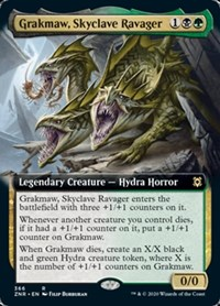 Grakmaw, Skyclave Ravager (Extended Art), Magic: The Gathering, Zendikar Rising