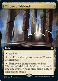 Throne of Makindi (Extended Art), Magic: The Gathering, Zendikar Rising