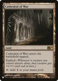 Cathedral of War, Magic, The List