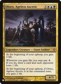 Oloro, Ageless Ascetic, Magic: The Gathering, The List