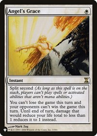 Angel's Grace, Magic: The Gathering, The List