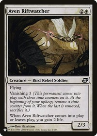 Aven Riftwatcher, Magic: The Gathering, The List