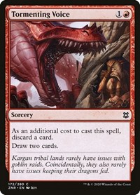 Tormenting Voice, Magic: The Gathering, Zendikar Rising
