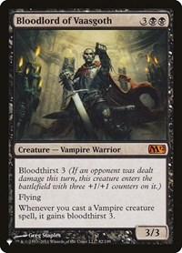 Bloodlord of Vaasgoth, Magic: The Gathering, The List