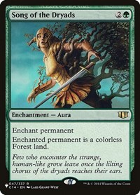 Song of the Dryads, Magic, The List