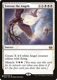 Entreat the Angels, Magic: The Gathering, The List