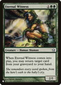Eternal Witness (5DN), Magic: The Gathering, The List
