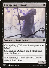 Changeling Outcast, Magic: The Gathering, Commander: Zendikar Rising