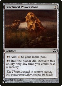 Fractured Powerstone, Magic: The Gathering, The List