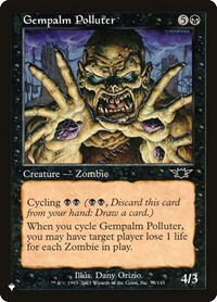 Gempalm Polluter, Magic: The Gathering, The List