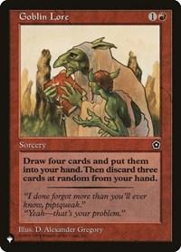 Goblin Lore, Magic: The Gathering, The List