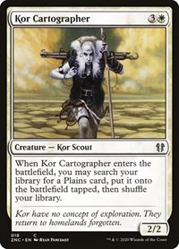 Kor Cartographer, Magic: The Gathering, Commander: Zendikar Rising