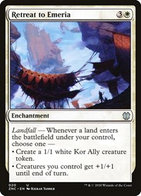 Retreat to Emeria, Magic: The Gathering, Commander: Zendikar Rising