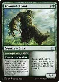 Beanstalk Giant, Magic: The Gathering, Commander: Zendikar Rising