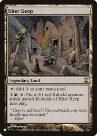 Kher Keep, Magic: The Gathering, The List