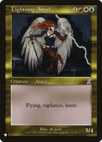 Lightning Angel, Magic: The Gathering, The List
