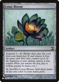 Lotus Bloom, Magic: The Gathering, The List