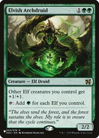 Elvish Archdruid, Magic: The Gathering, The List