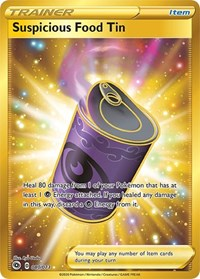 Suspicious Food Tin (Secret), Pokemon, Champion's Path