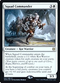 Squad Commander, Magic: The Gathering, Prerelease Cards