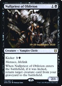 Nullpriest of Oblivion, Magic: The Gathering, Prerelease Cards