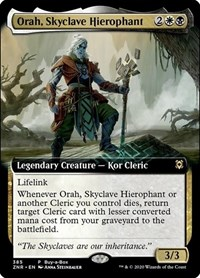 Orah, Skyclave Hierophant (Extended Art), Magic, Buy-A-Box Promos