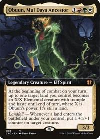 Obuun, Mul Daya Ancestor (Extended Art), Magic, Commander: Zendikar Rising
