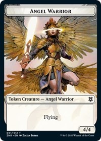 Angel Warrior // Construct Double-sided Token (Foil)