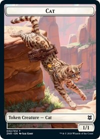 Cat // Goblin Construct Double-sided Token (Foil)