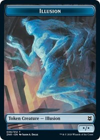 Illusion // Plant Double-sided Token (Foil)