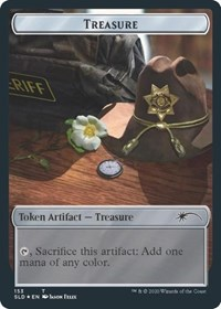 Treasure // Walker (Bicycle Girl) Double-sided Token, Magic: The Gathering, Secret Lair Drop Series