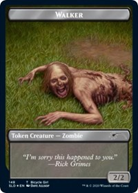 Walker (Bicycle Girl // Well Walker) Double-sided Token, Magic: The Gathering, Secret Lair Drop Series