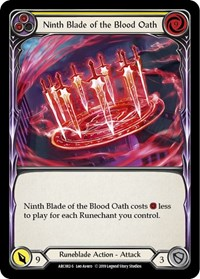 Ninth Blade of the Blood Oath