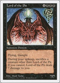 Lord of the Pit, Magic: The Gathering, Fifth Edition