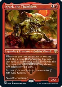Krark, the Thumbless (Foil Etched), Magic: The Gathering, Commander Legends