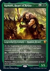 Kamahl, Heart of Krosa (Foil Etched), Magic: The Gathering, Commander Legends