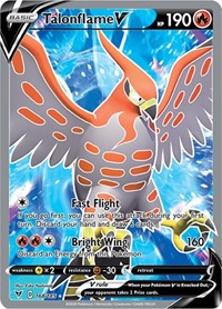 Talonflame V (Full Art), Pokemon, SWSH04: Vivid Voltage