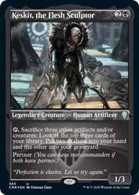 Keskit, the Flesh Sculptor (Foil Etched), Magic: The Gathering, Commander Legends